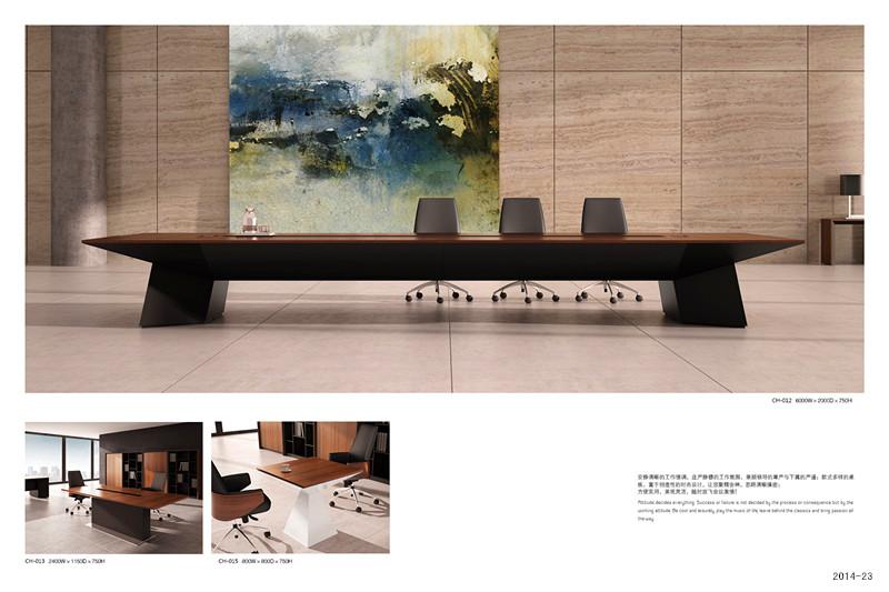 会议桌:TH-012规格:6000W*2000D*750H小会议桌:TH-013规格:2400W*1150D*750H谈判桌:TH-015规格:800W*800