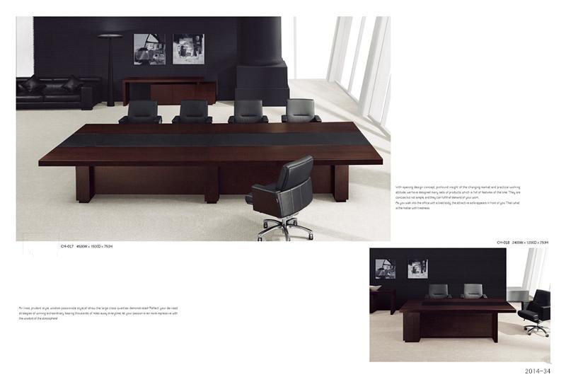 会议桌:TH-017规格:4500W*1500D*750H小会议桌:TH-018规格:2400W*1200D*750H